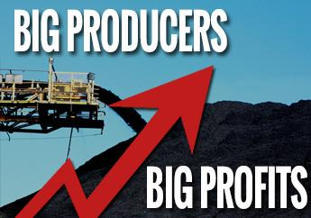 Big producers making big profits from Australian coal
